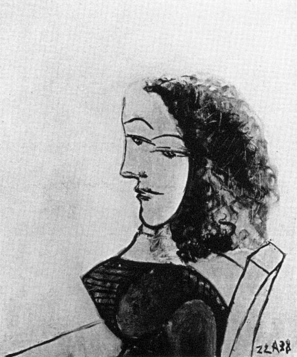 1938 Femme assise 2. Pablo Picasso (1881-1973) Period of creation: 1931-1942