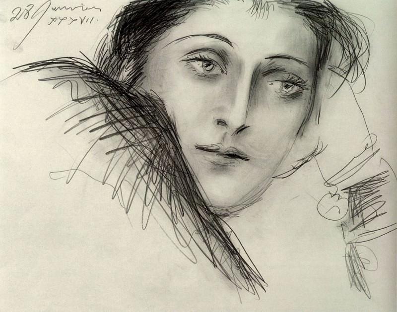1937 Portrait de Dora Maar. Пабло Пикассо (1881-1973) Период: 1931-1942