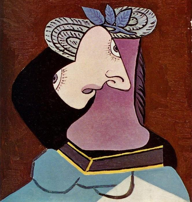 1936 Le chapeau de paille au feuillage bleu 1. Pablo Picasso (1881-1973) Period of creation: 1931-1942