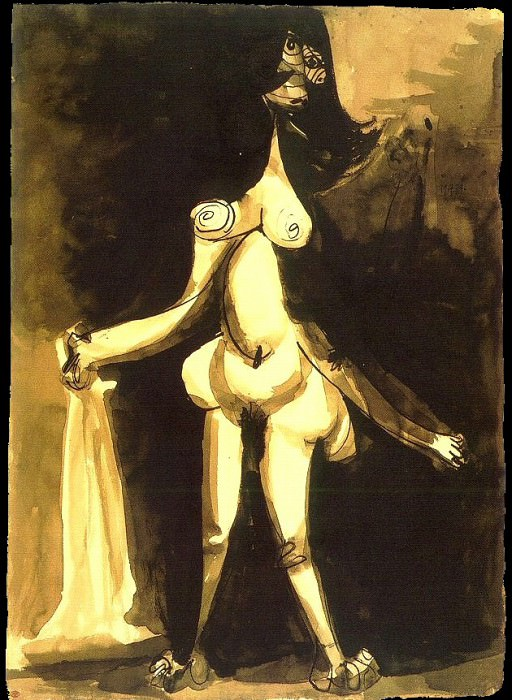 1939 Femme nue debout au peignoir. Pablo Picasso (1881-1973) Period of creation: 1931-1942