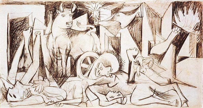 1937 Guernica II. Пабло Пикассо (1881-1973) Период: 1931-1942 (Рtude)