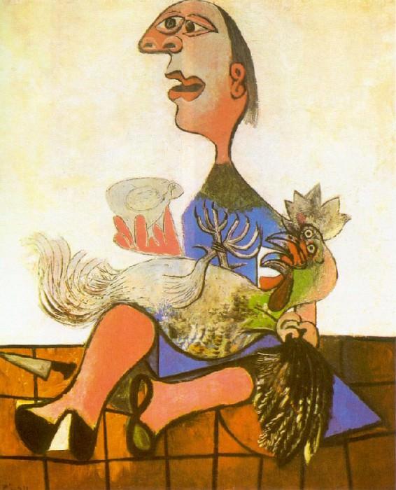 1938 Femme au coq. Pablo Picasso (1881-1973) Period of creation: 1931-1942