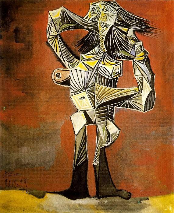 1939 Femme debout la main droite derriКre la tИte. Pablo Picasso (1881-1973) Period of creation: 1931-1942