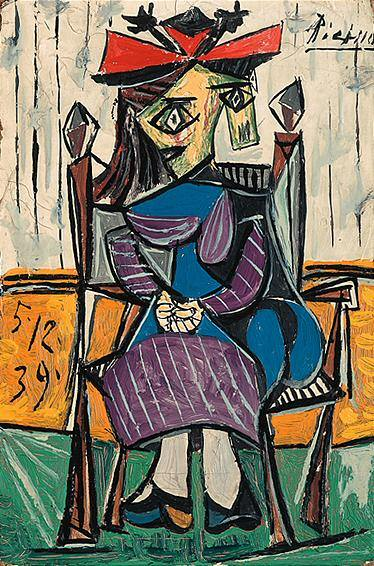 1939 Femme assise 2. Pablo Picasso (1881-1973) Period of creation: 1931-1942