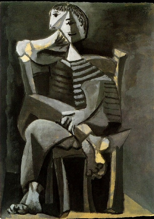 1939 Homme assis au tricot rayВ. Pablo Picasso (1881-1973) Period of creation: 1931-1942