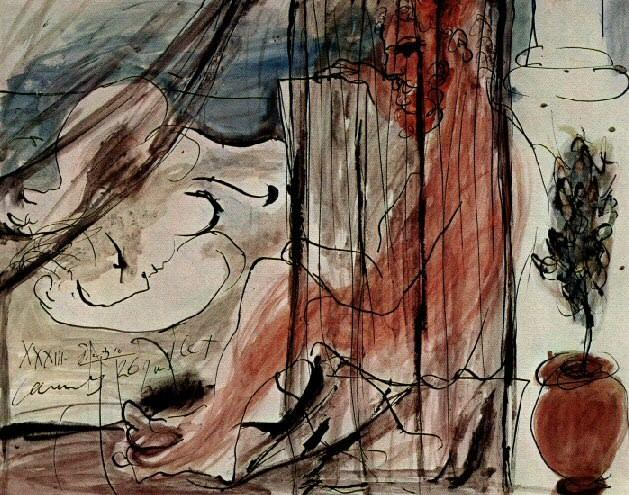 1933 Lartiste et son modКle. Pablo Picasso (1881-1973) Period of creation: 1931-1942 (Le peintre et son modКle)