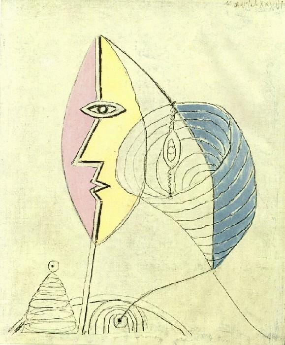 1936 Portrait de jeune fille. Pablo Picasso (1881-1973) Period of creation: 1931-1942