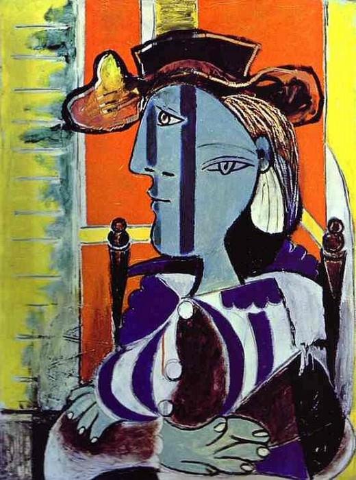 1937 Femme assise aux bras croisВs. Пабло Пикассо (1881-1973) Период: 1931-1942