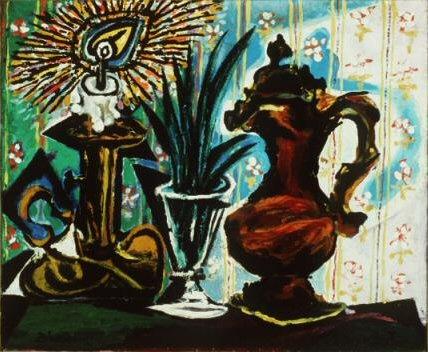 1937 Nature morte Е la bougie. Пабло Пикассо (1881-1973) Период: 1931-1942