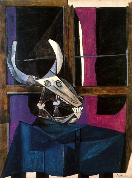 1942 Nature morte avec crГne de boeuf. Пабло Пикассо (1881-1973) Период: 1931-1942
