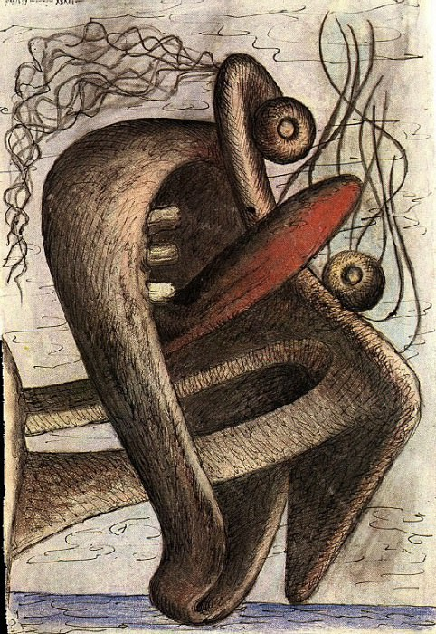 1933 Figure au bord de la mer. Pablo Picasso (1881-1973) Period of creation: 1931-1942