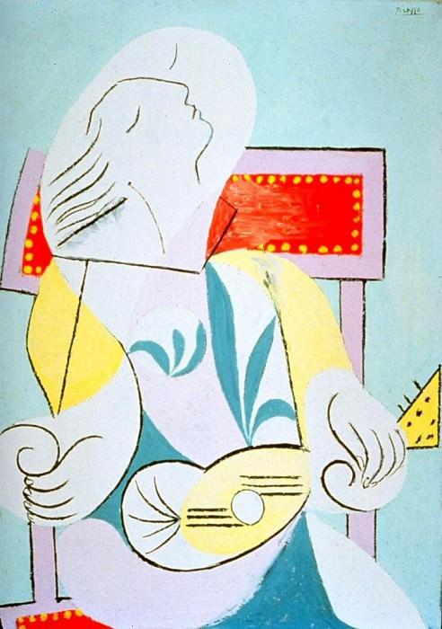 1932 Jeune fille Е la guitare. Pablo Picasso (1881-1973) Period of creation: 1931-1942