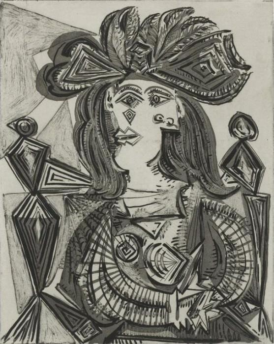 1939 Femme au fauteuil et au chapeau. Пабло Пикассо (1881-1973) Период: 1931-1942