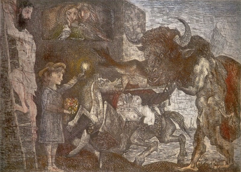 1935 La minotauromachie VIIb. Пабло Пикассо (1881-1973) Период: 1931-1942