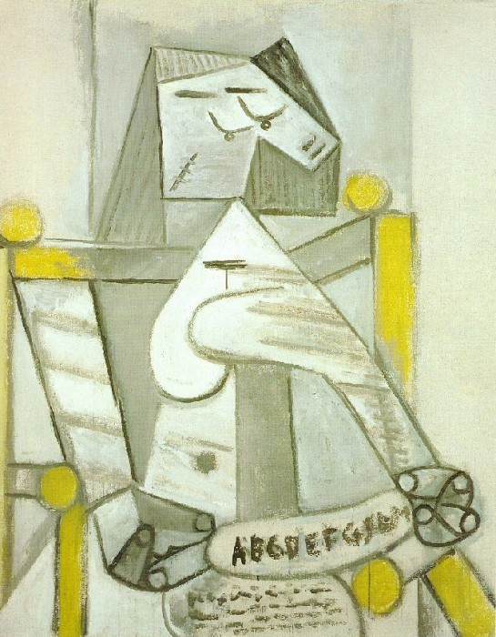 1941 Femme assise Е labВcВdaire. Pablo Picasso (1881-1973) Period of creation: 1931-1942