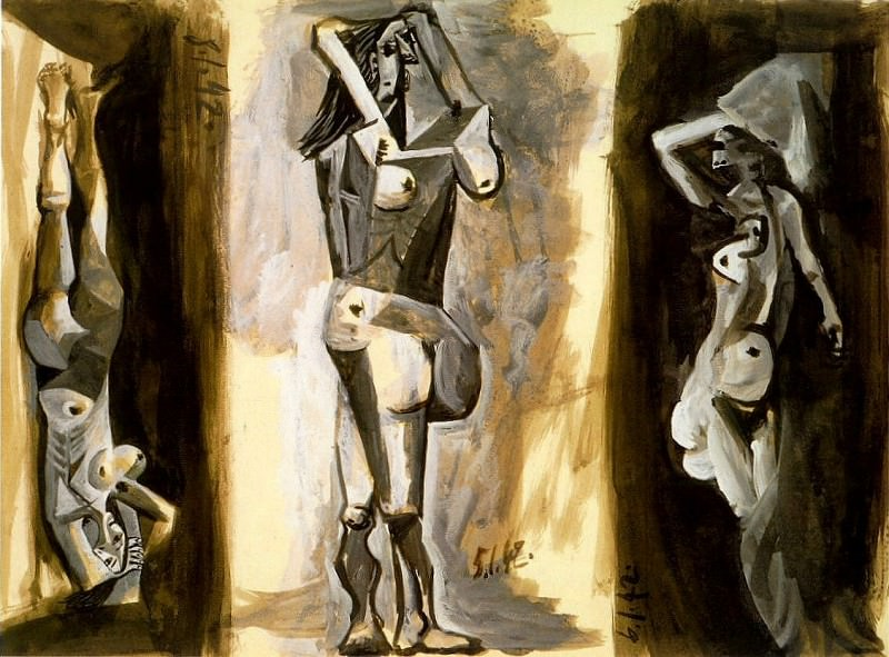 1942 Laubade (Trois femmes nues). Пабло Пикассо (1881-1973) Период: 1931-1942 (Рtude)