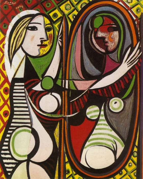 1932 Jeune fille devant un miroir. Pablo Picasso (1881-1973) Period of creation: 1931-1942