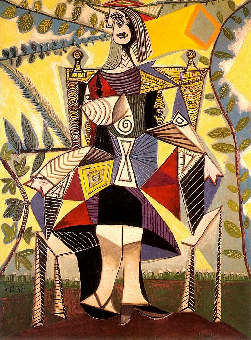 1938 Femme assise au jardin. Pablo Picasso (1881-1973) Period of creation: 1931-1942