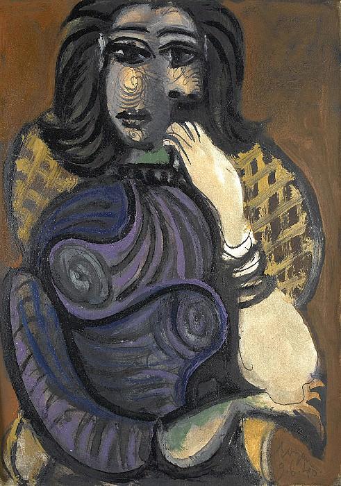 1940 Femme dans un fauteuil. Pablo Picasso (1881-1973) Period of creation: 1931-1942