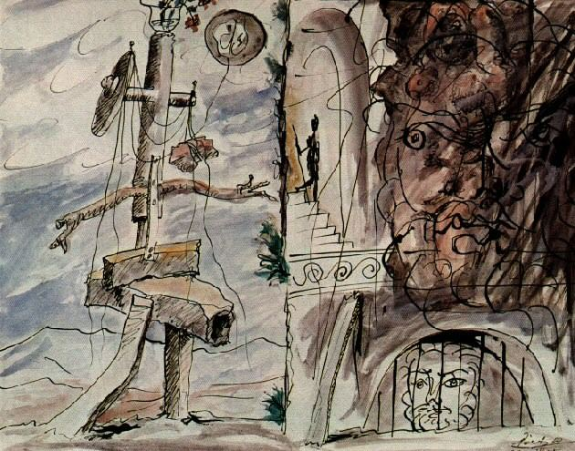 1933 Composition. Pablo Picasso (1881-1973) Period of creation: 1931-1942