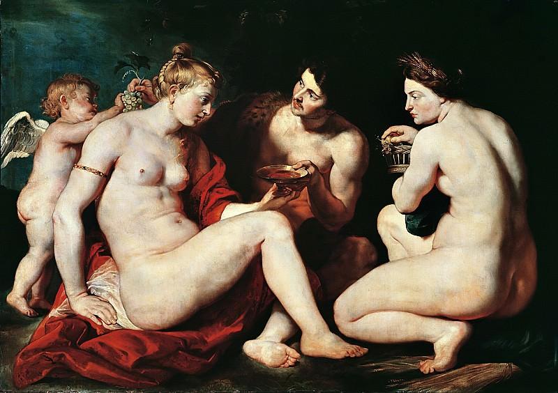 Venus, Cupid, Baccchus and Ceres - Венера, Купидон, Вакх и Церера - 1612 -1613. Peter Paul Rubens
