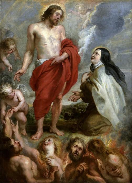 Святая Тереза Авильская ходатайствует перед Христом за Бернардино де Мендосу. Peter Paul Rubens