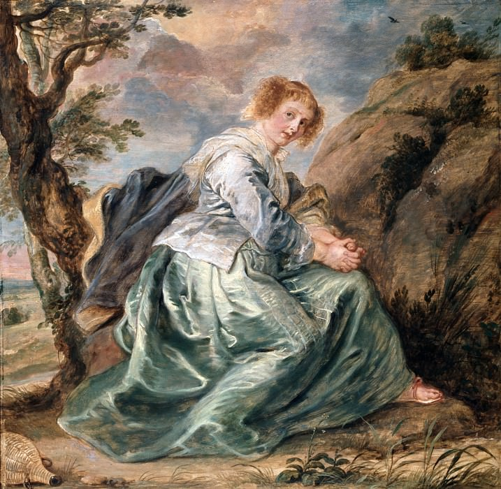 Hagar in the Desert - 1630 - 1632. Peter Paul Rubens