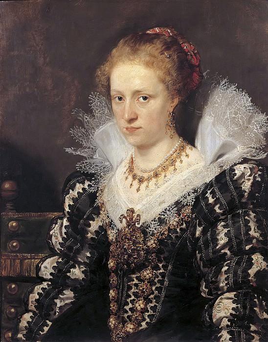 Peter Paul Rubens ou Antoon van Dyck -- Portrait de Jacqueline van Caestre, épouse de Jean Charles de Cordes. Peter Paul Rubens