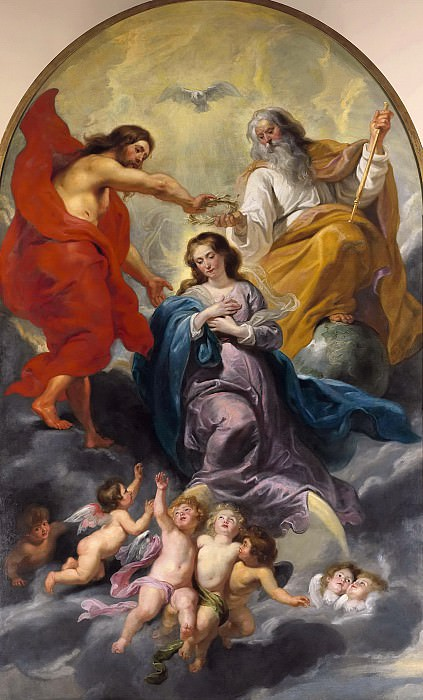 Peter Paul Rubens et atelier -- Le couronnement de la Vierge. Peter Paul Rubens