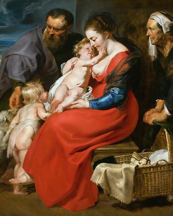 Святое Семейство со святой Елизаветой и маленьким Иоанном Крестителем. Питер Пауль Рубенс