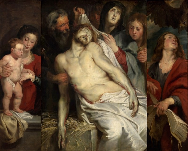 Lamentation (Christ on the Straw) - 1617 -1618. Peter Paul Rubens