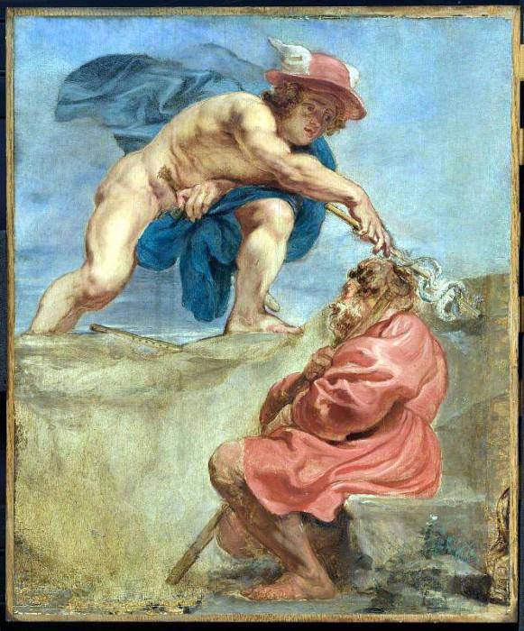 Mercury and a Sleeping Herdsman - 1632 - 1633. Peter Paul Rubens