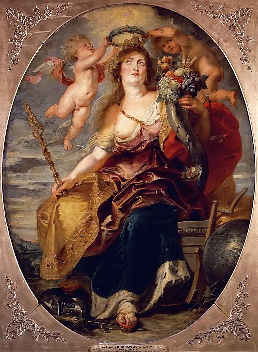 Pieter Paul Rubens (1577-1640), Allegory of France personified by Marie de' Médicis (1573-1642). --. Peter Paul Rubens