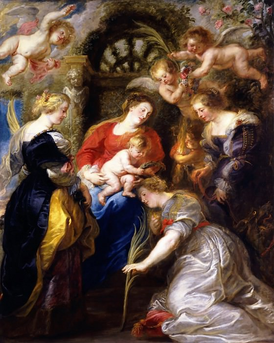 The Crowning of St Catherine - 1631. Peter Paul Rubens