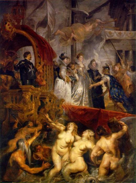 Arrival of Marie de Medici at Marseilles - 1622 - 1624. Peter Paul Rubens