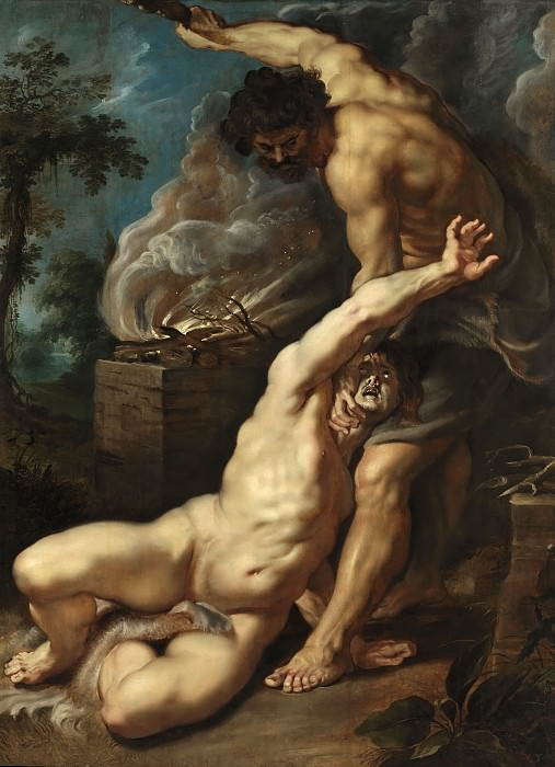 Cain slaying Abel --. Peter Paul Rubens