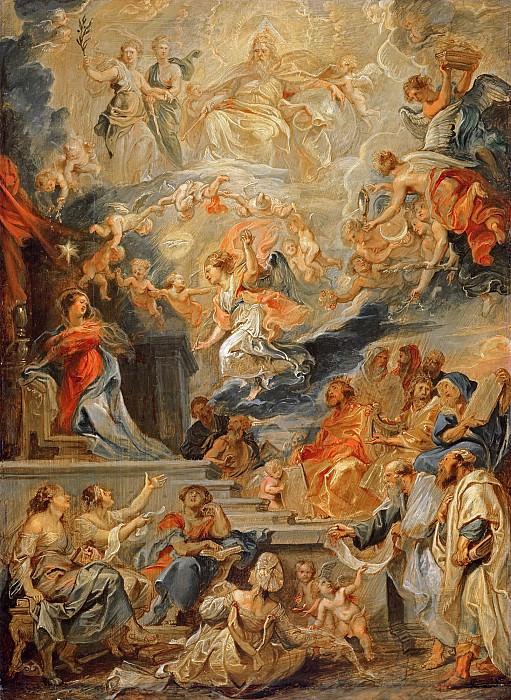Благовещение о воплощении Христа, как исполнение пророчеств. Peter Paul Rubens