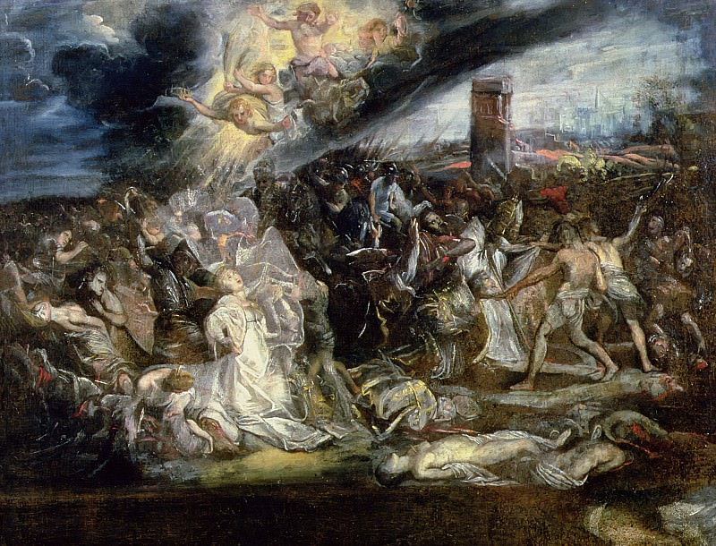 Мученичество святой Урсулы и десяти тысяч дев. Peter Paul Rubens