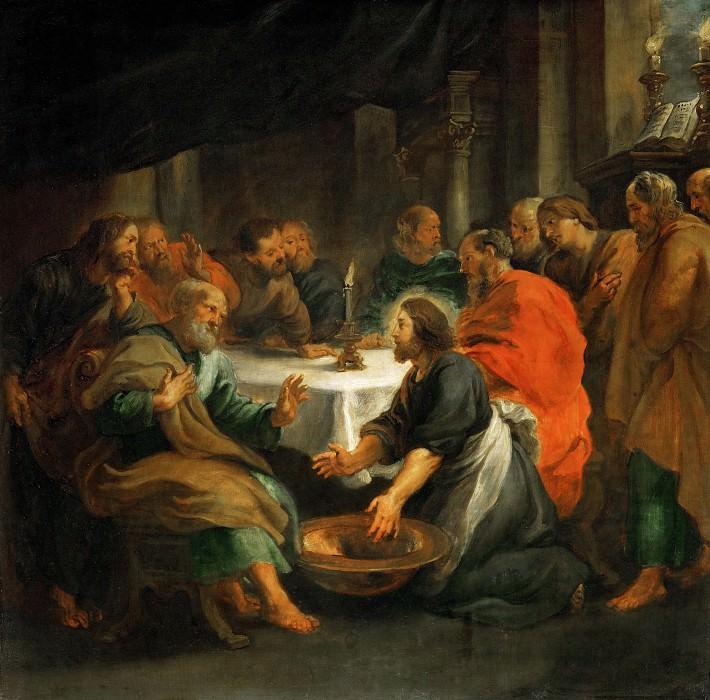 Христос, умывающий ноги ученикам. Питер Пауль Рубенс