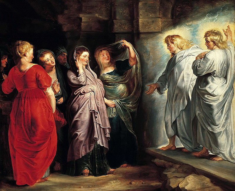 The Holy Women at the Sepulchre, c. 1611-14 --. Peter Paul Rubens