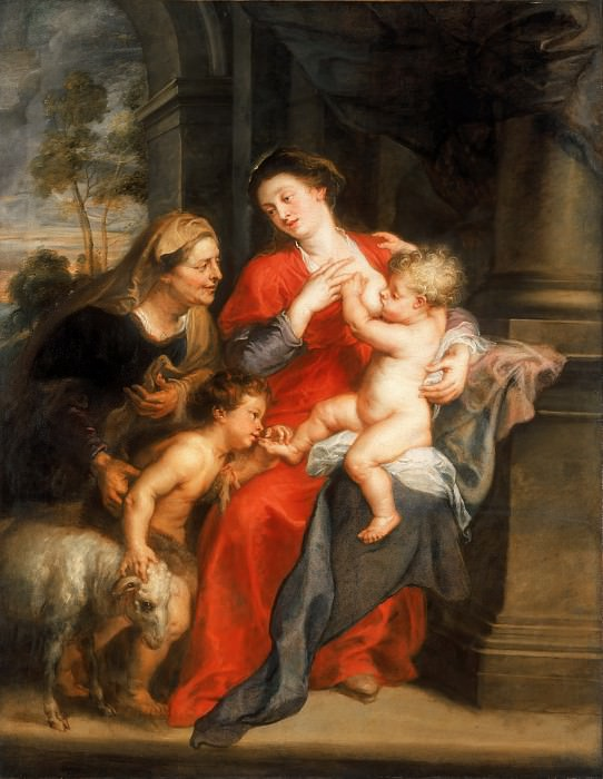 'The Virgin and Child with St Elizabeth and the Child Baptist',Oil on canvas, 180 x 139.5cm --. Peter Paul Rubens