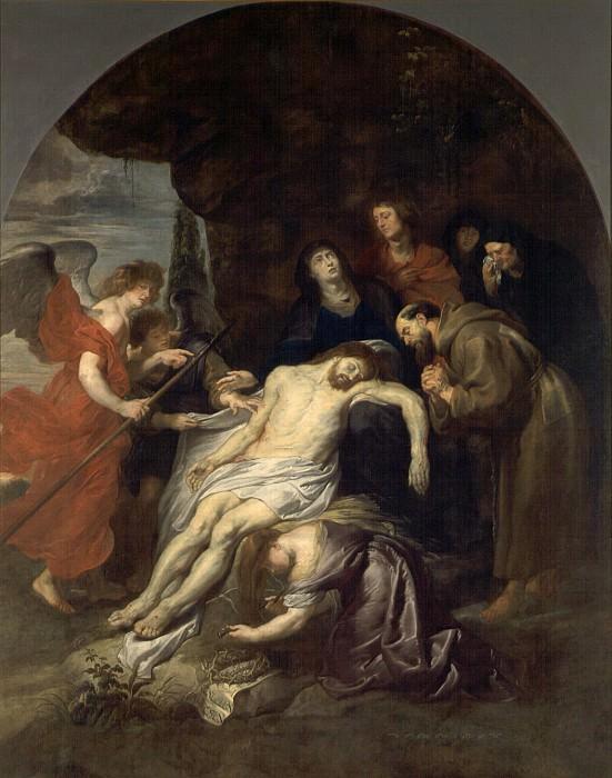 Peter Paul Rubens et atelier -- Pietà avec saint François. Peter Paul Rubens