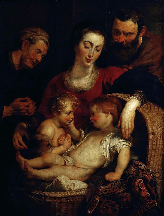 The Holy Family with St Elizabeth - 1614 - 1615. Peter Paul Rubens