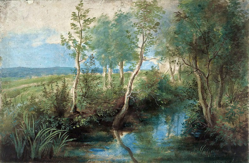 Peter Paul Rubens -- Landscape with Stream Overhung with Trees. Peter Paul Rubens