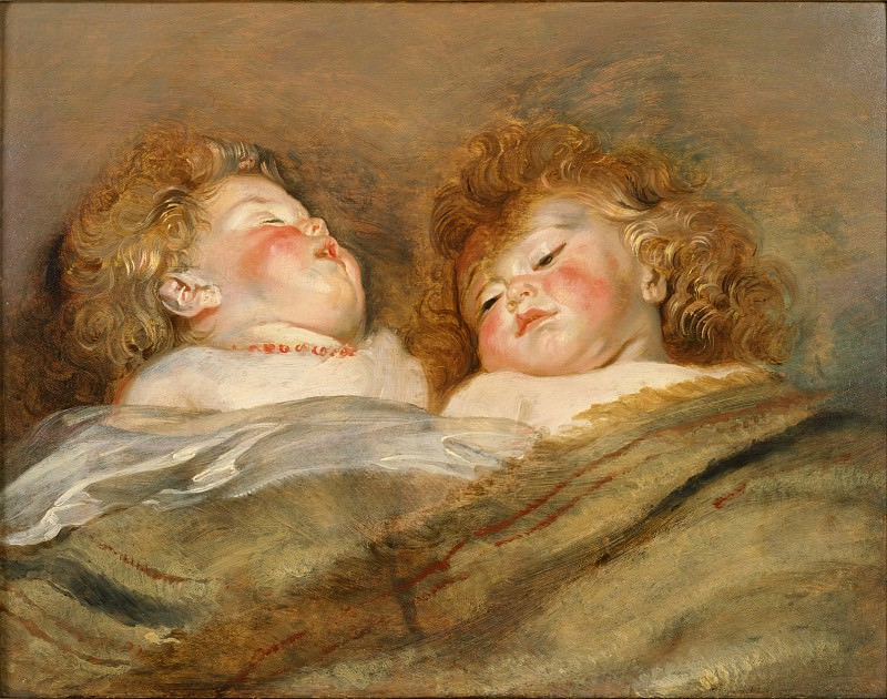 Two Sleeping Children. Peter Paul Rubens