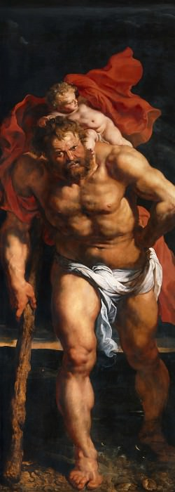 Rubens Descent from the Cross detail outside left. Peter Paul Rubens