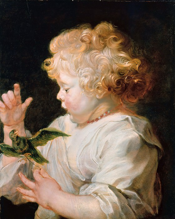 Boy with Bird -1616. Peter Paul Rubens
