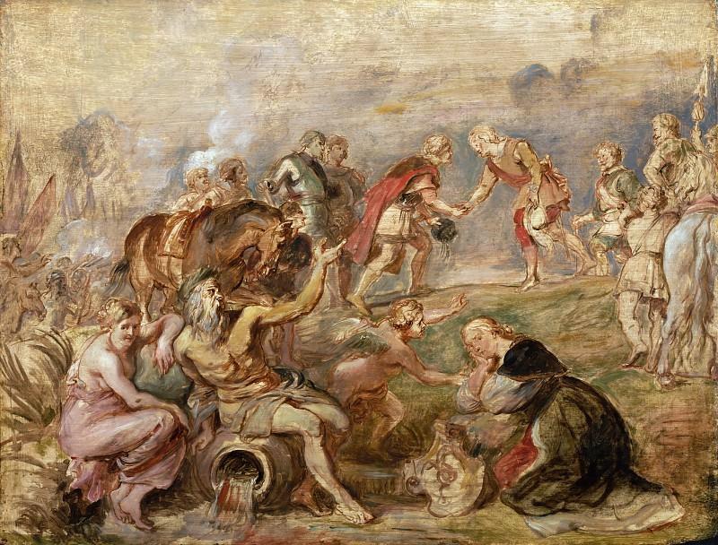 Meeting of King Ferdinand of Hungary and Cardinal-Infante Ferdinand of Spain at Nördlingen -- Peter Paul Rubens. Peter Paul Rubens