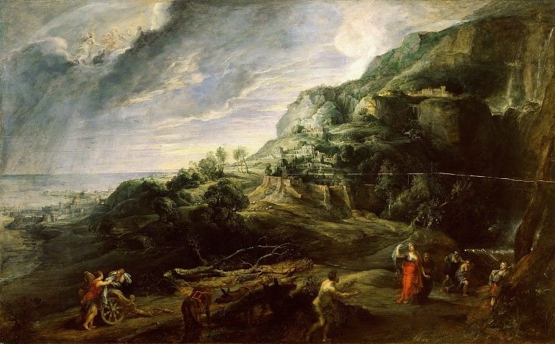 Peter Paul Rubens -- Landscape with Ulysses and Nausicaa. Peter Paul Rubens
