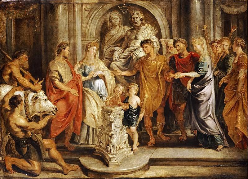 Бракосочетание Константина с Фаустой и Лициния с Констанцией. Peter Paul Rubens